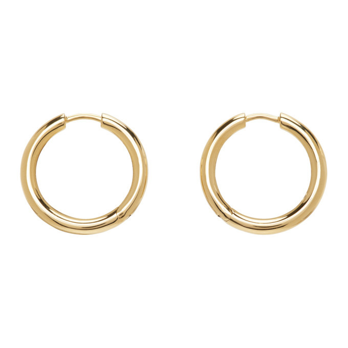 Photo: Tom Wood Gold Medium Classic Hoop Earrings