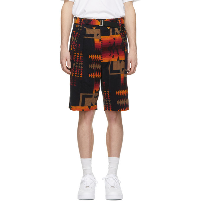 Photo: Sacai Navy Pendleton Edition Corduroy Shorts