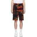 Sacai Navy Pendleton Edition Corduroy Shorts
