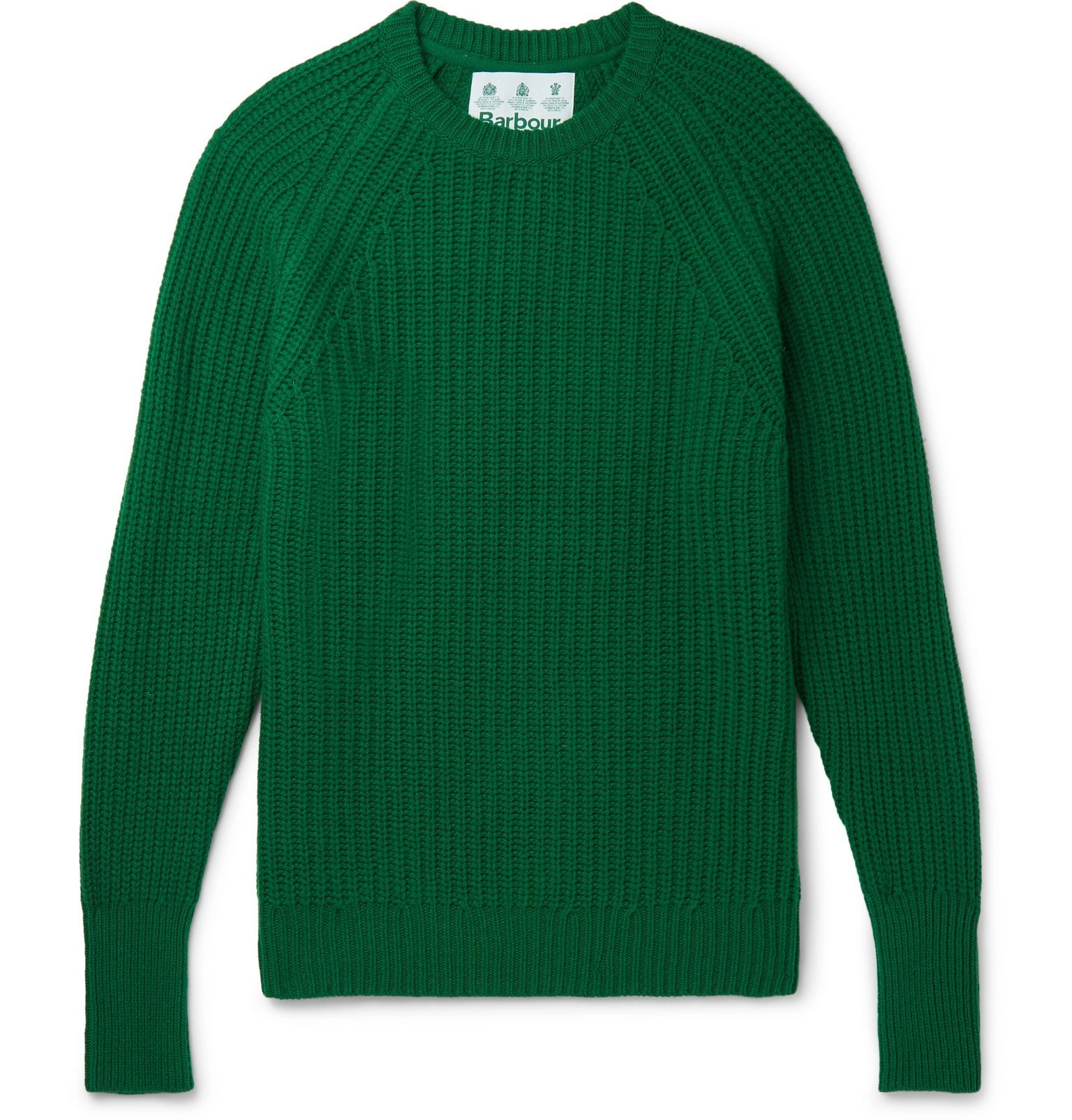 Photo: Barbour - White Label Tynedale Ribbed Wool Sweater - Green