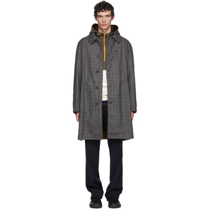 Photo: Lanvin Reversible Grey and Beige Check Coat
