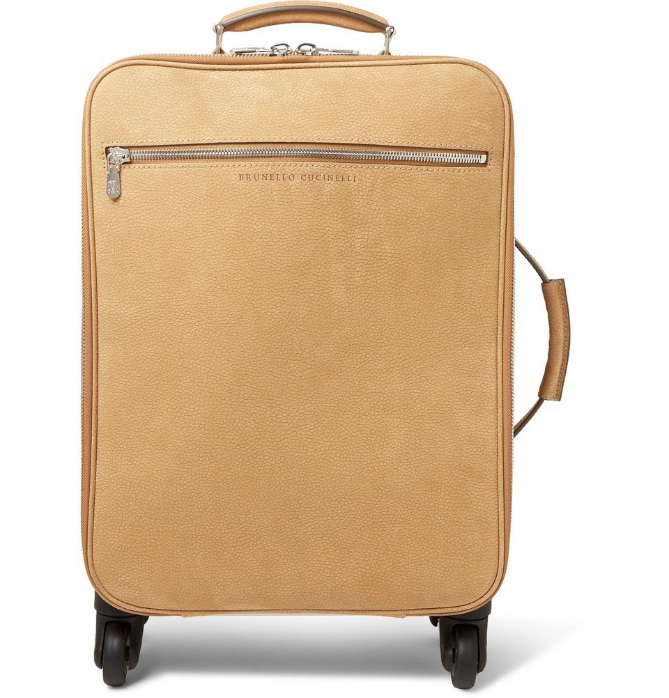 Photo: Brunello Cucinelli - Nubuck Trolley Suitcase - Beige