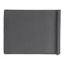 Giorgio Armani Grey Tumbled Leather Wallet