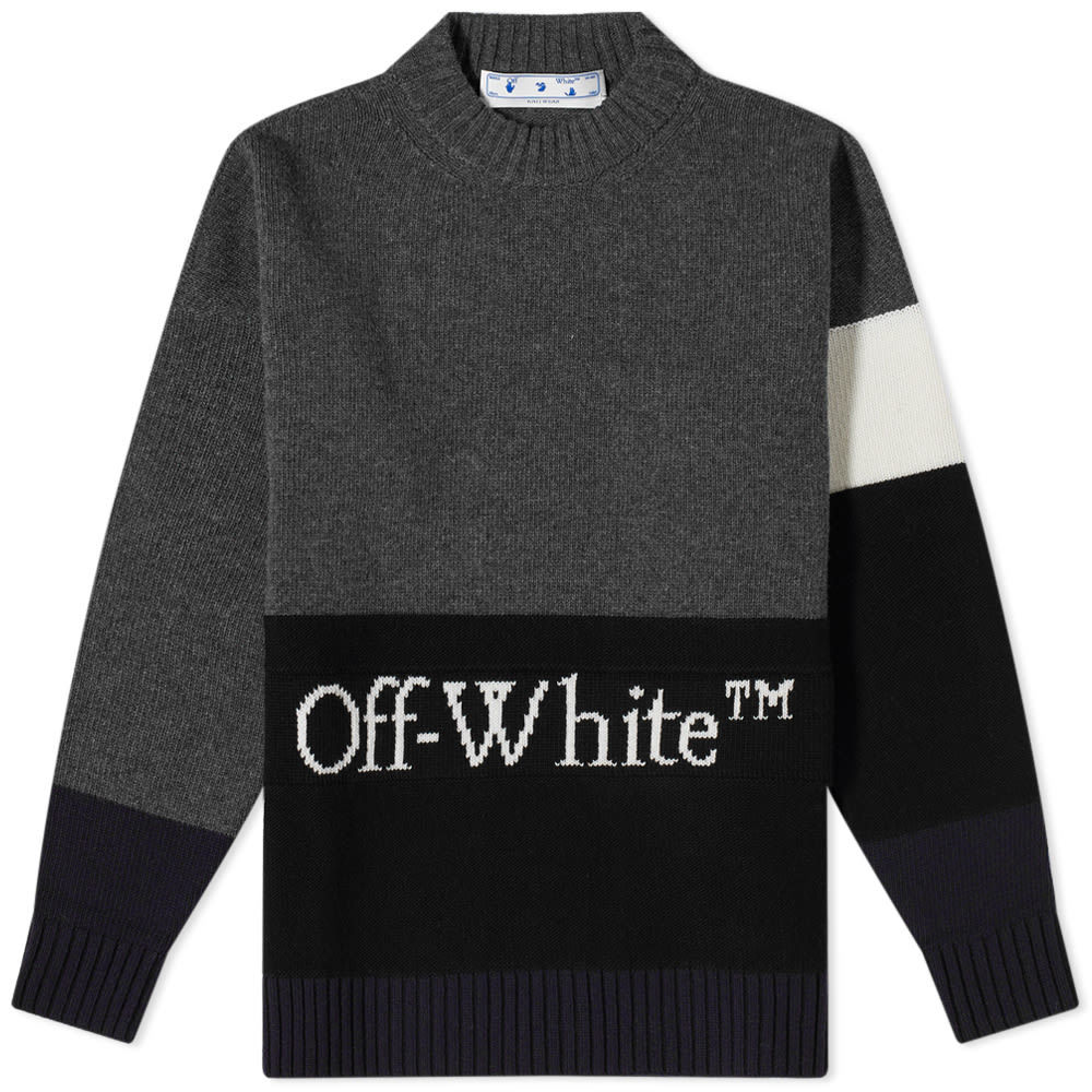 Photo: Off-White Colour Block Logo Knit