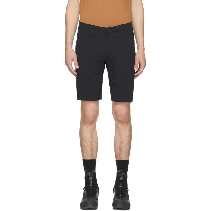 Arcteryx Veilance Black Voronoli Shorts