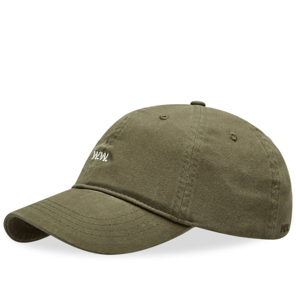 Wood Wood AA Low Profile Cap Dark Green