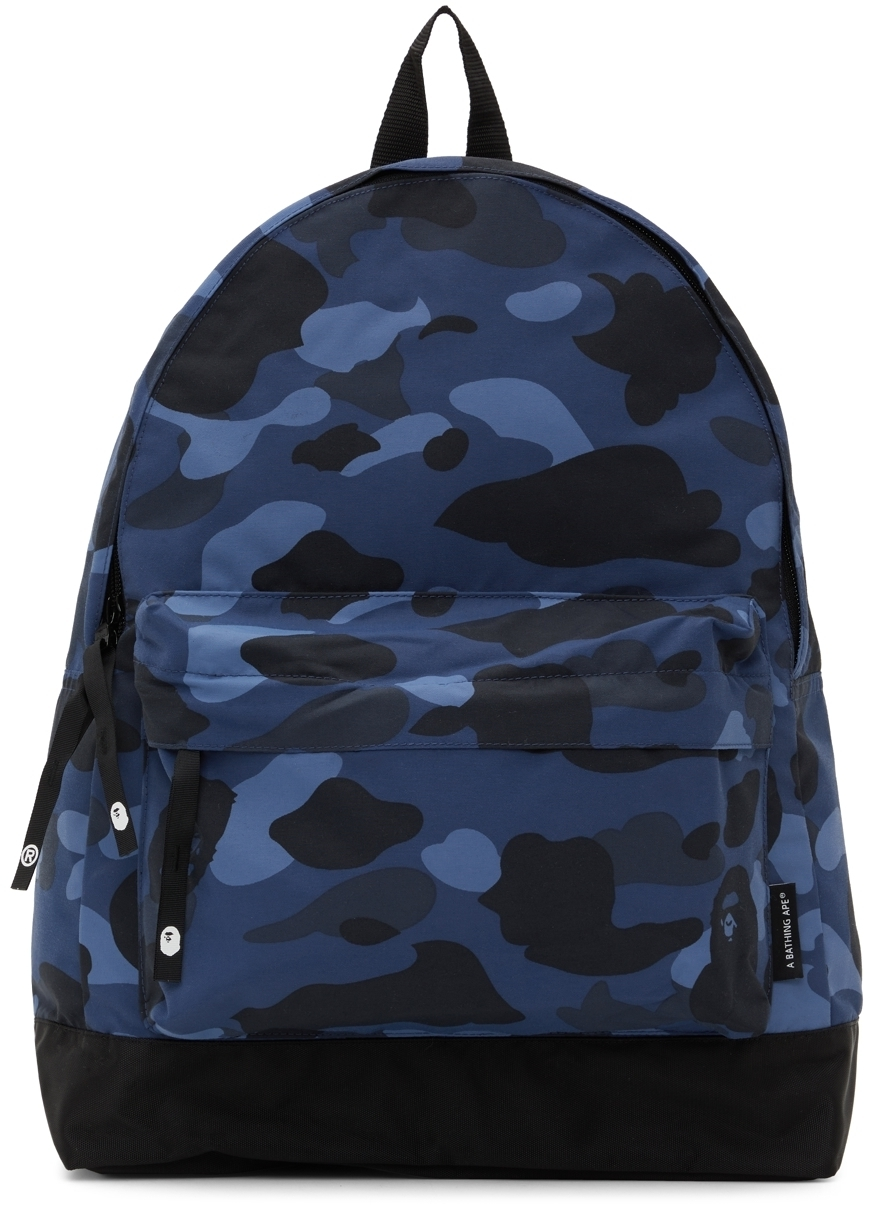 Photo: BAPE Blue Camo Medium Day Pack Backpack