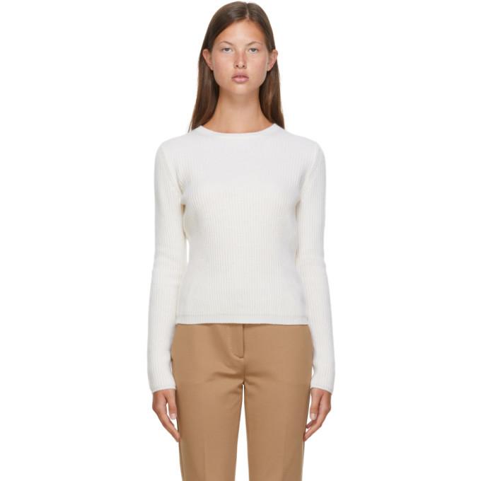 Max Mara White Wool and Cashmere Pairak Sweater