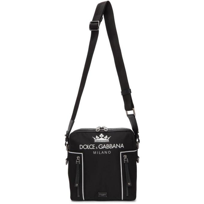 Photo: Dolce and Gabbana Black Logo Messenger Bag