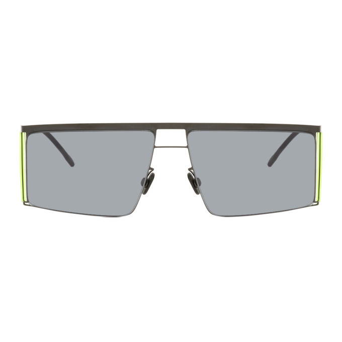 Photo: Helmut Lang Black and Yellow Mykita Edition HL001 Sunglasses