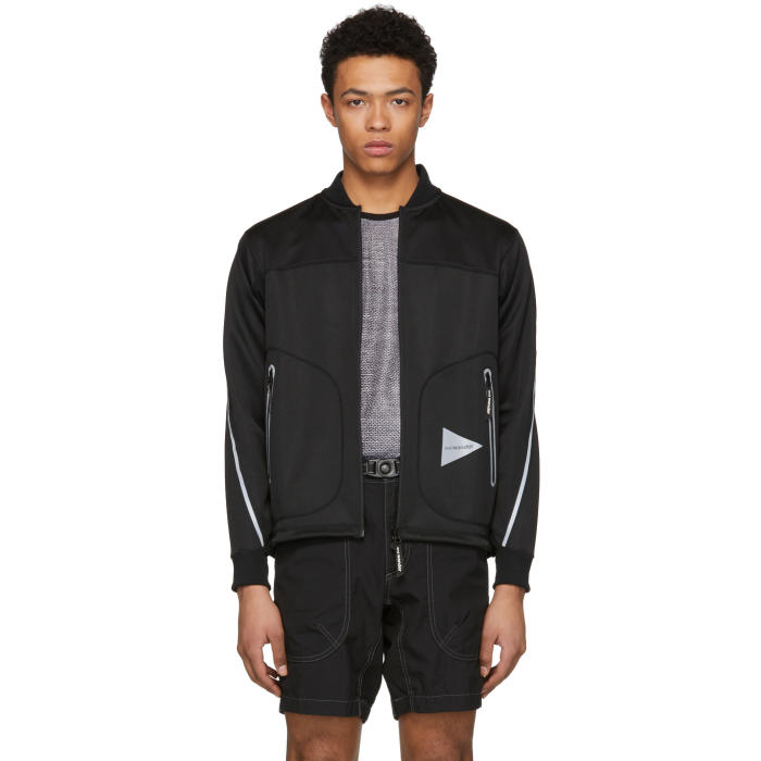 Photo: and Wander Black Line Zip Bomber Jacket
