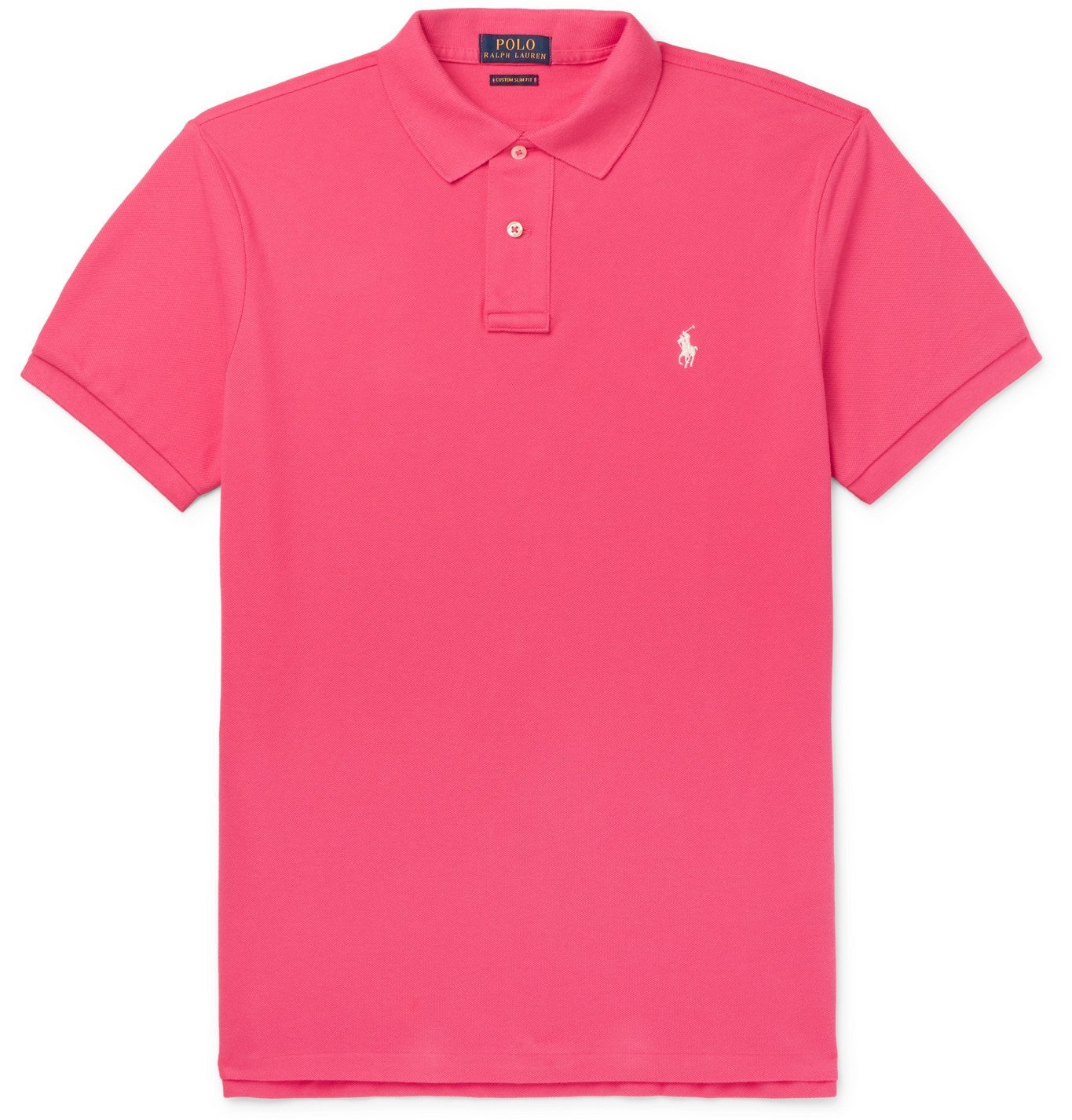 Photo: Polo Ralph Lauren - Slim-Fit Logo-Embroidered Cotton-Piqué Polo Shirt - Pink