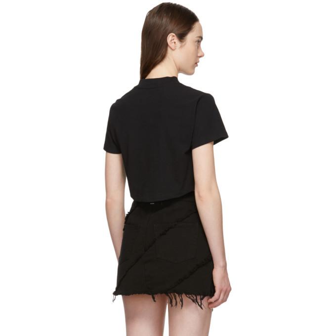 alexanderwang.t Black Ruched T-Shirt