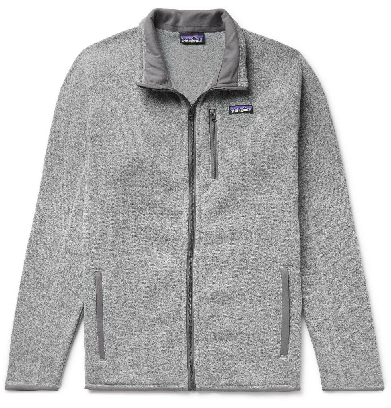 Photo: Patagonia - Better Sweater Mélange Fleece-Back Knitted Jacket - Gray