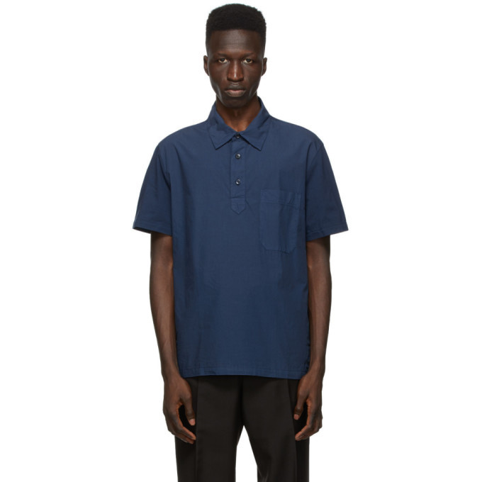 Photo: Brioni Navy Pocket Polo