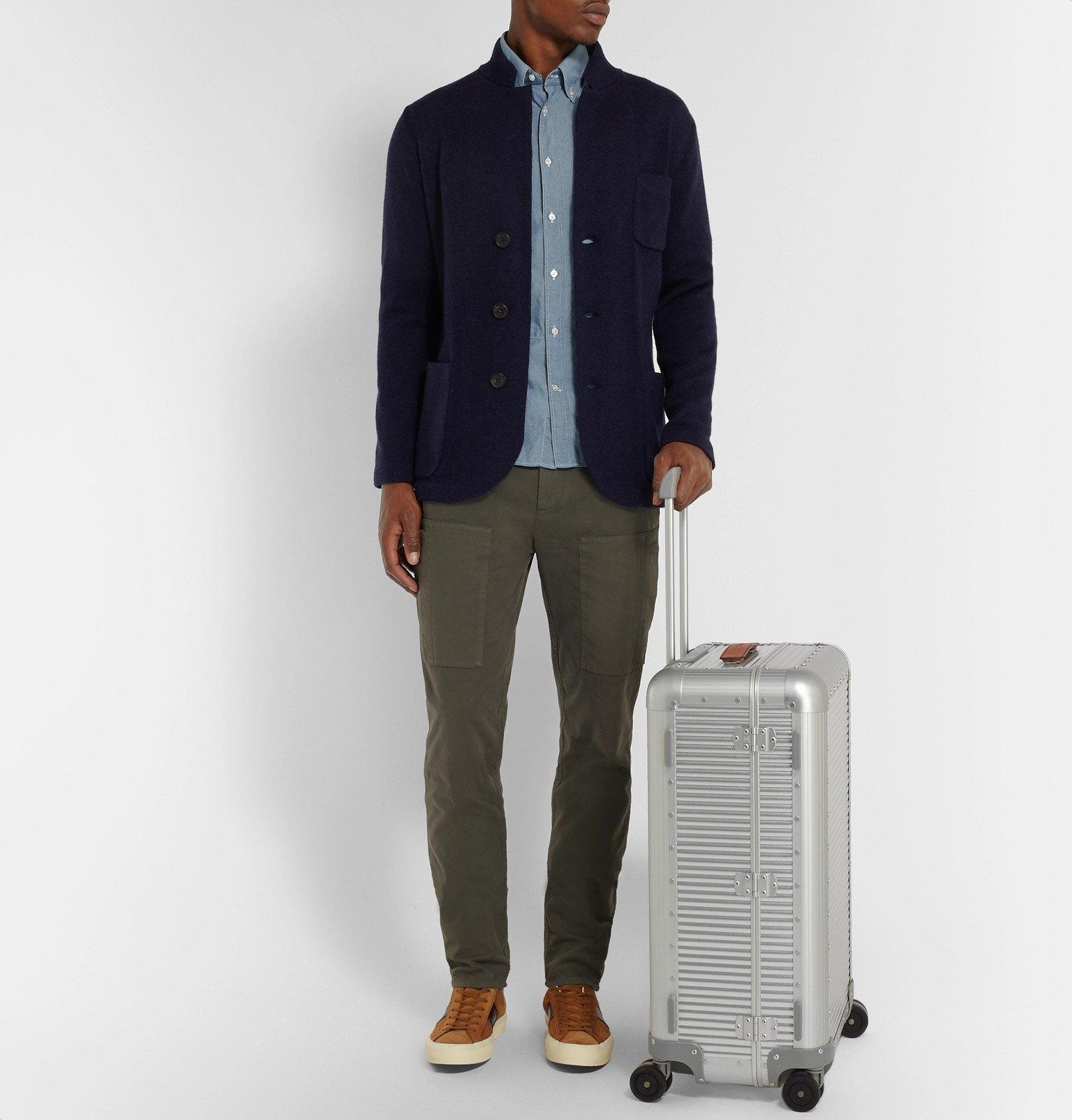 Fabbrica Pelletterie Milano - Spinner 68cm Leather-Trimmed Aluminium Suitcase - Silver