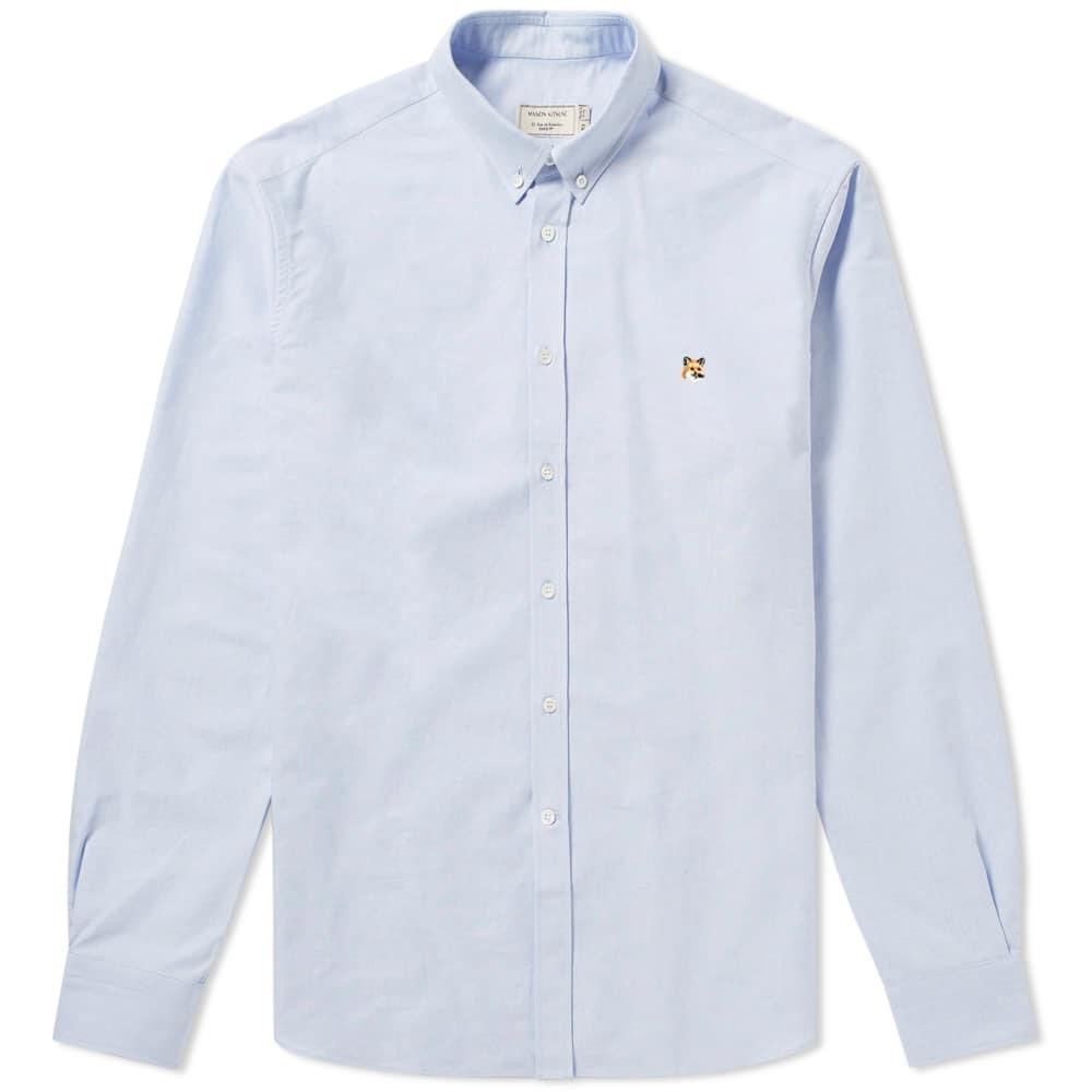 Photo: Maison Kitsuné Fox Head Patch Button Down Oxford Shirt