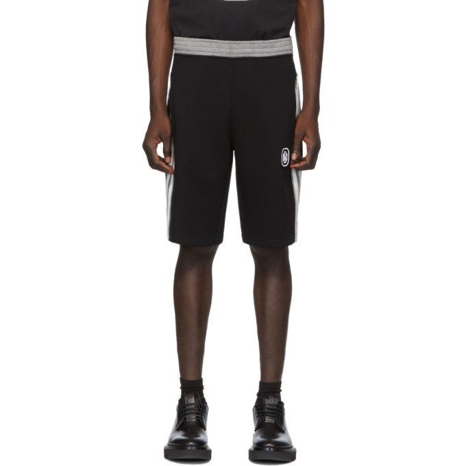 Photo: Neil Barrett Black and Grey Sports Stripe Shorts