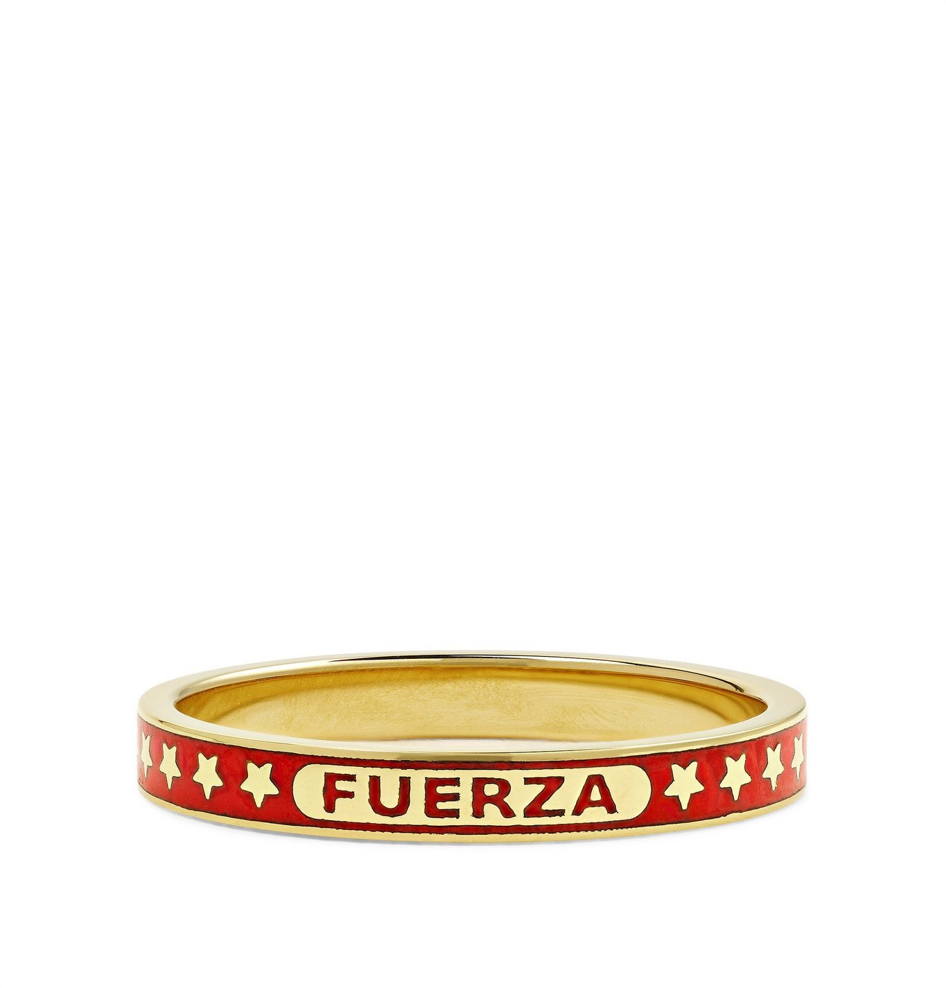 Photo: Foundrae - Fuerza 18-Karat Gold and Enamel Ring - Red
