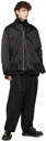 Sacai Black Wool Detachable Turtleneck Sweater