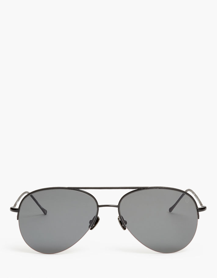 Photo: Belstaff Phoenix Thin Aviator Sunglasses Brown