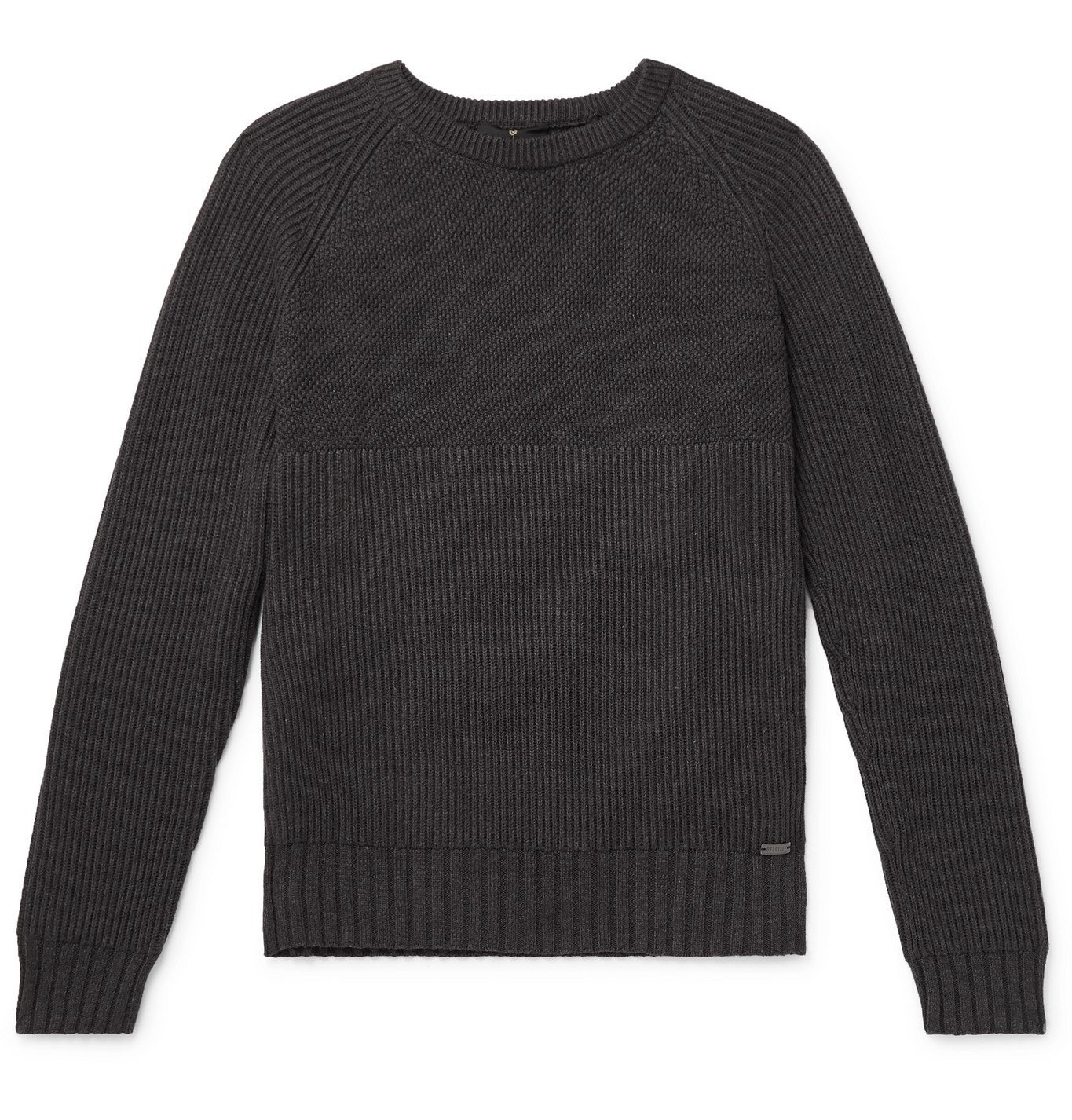 Photo: Belstaff - Marine Slim-Fit Cotton Sweater - Gray