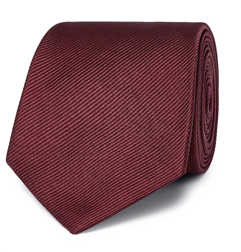 Giorgio Armani - 7.5cm Silk-Faille Tie - Burgundy