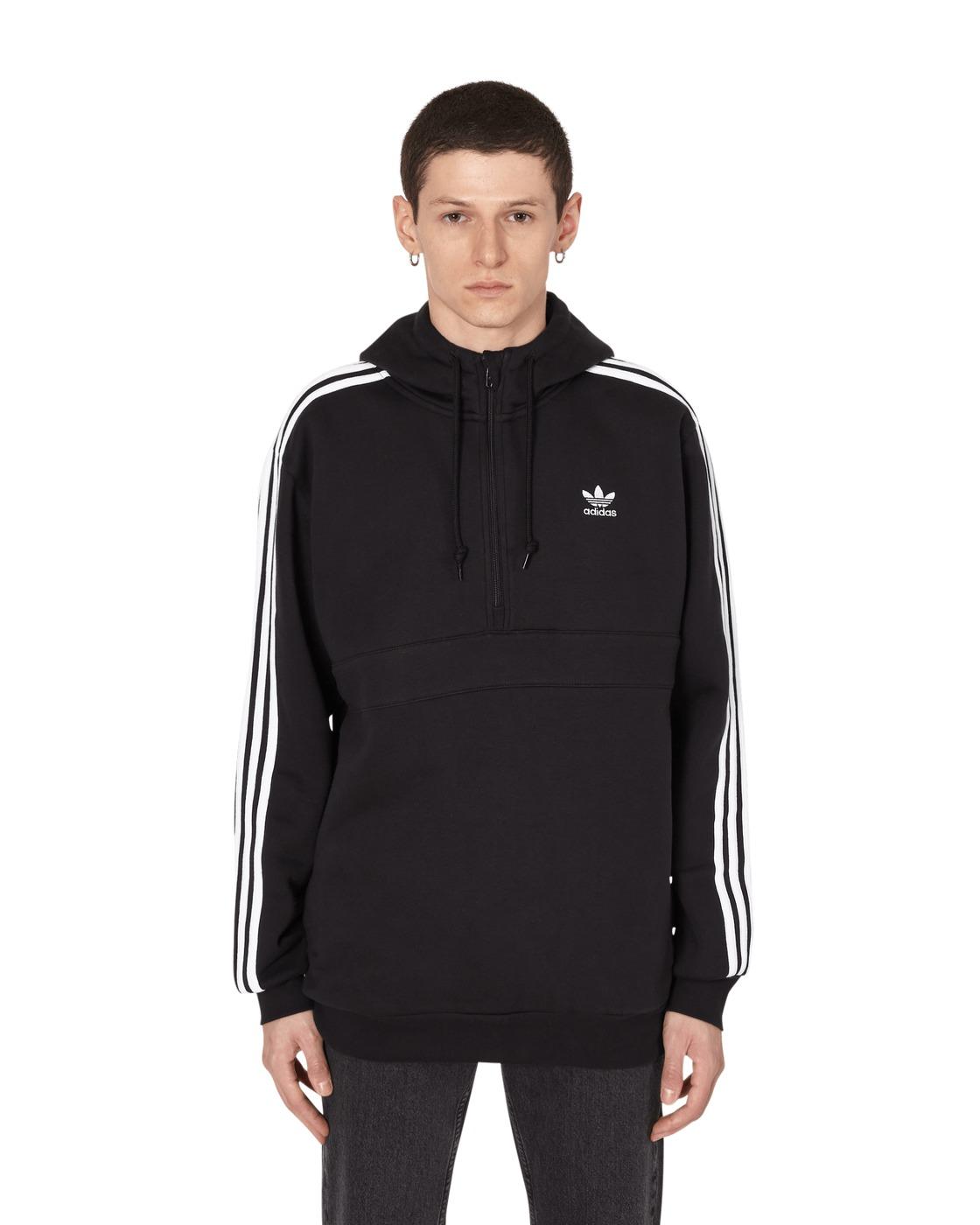 Adidas Originals 3 Stripes Hooded Sweatshirt Black