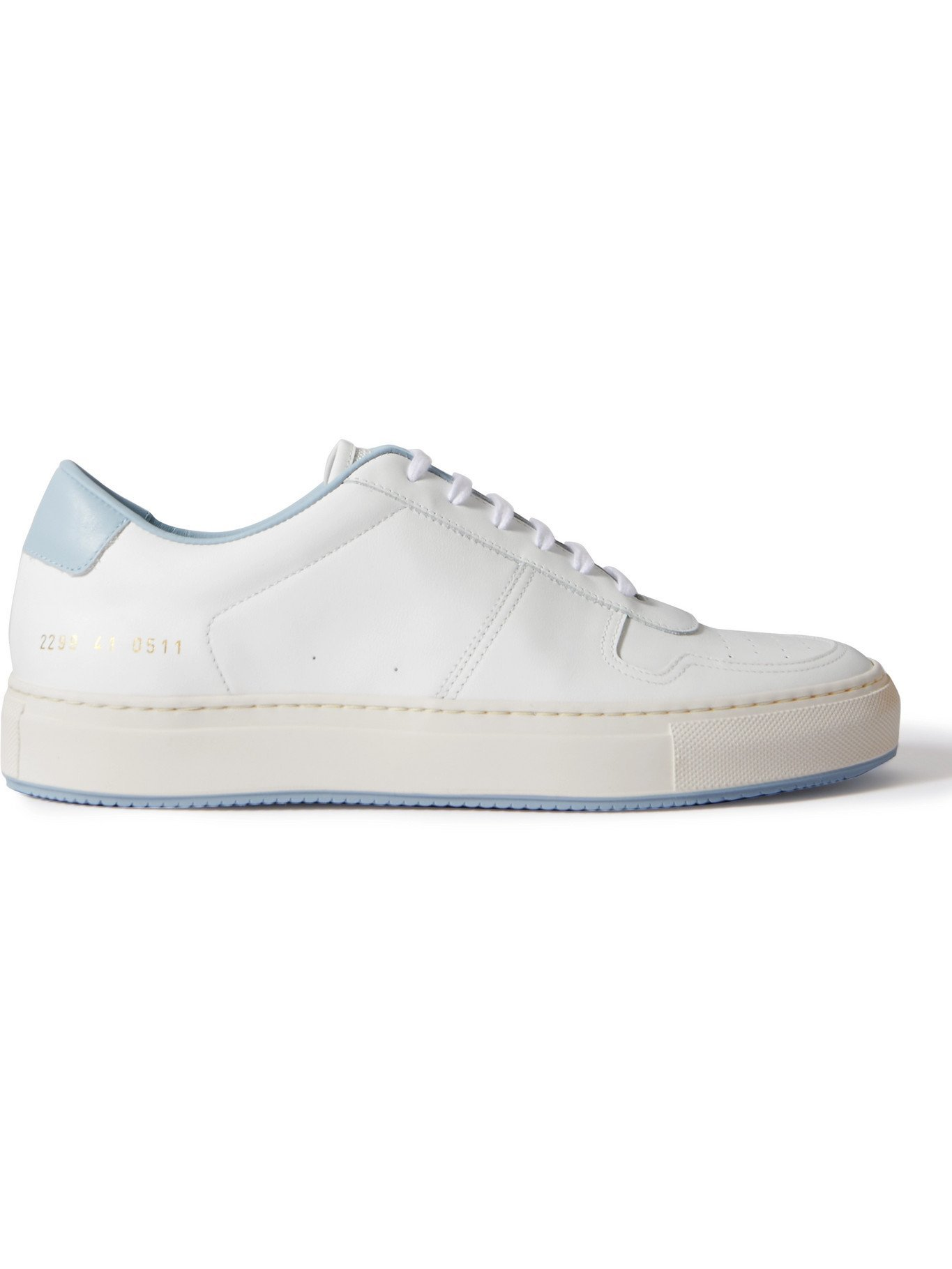 COMMON PROJECTS - BBall '90 Leather Sneakers - White