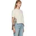 Stella McCartney Off-White Floral Print Back T-Shirt