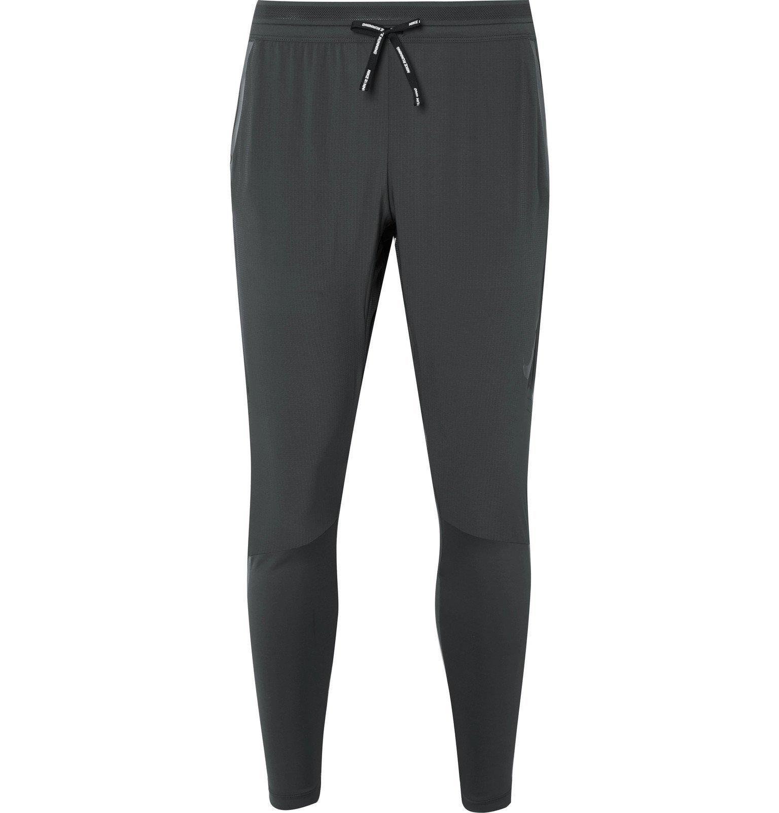 Photo: Nike Running - Swift Slim-Fit Tapered Perforated Flex Dri-FIT Sweatpants - Gray