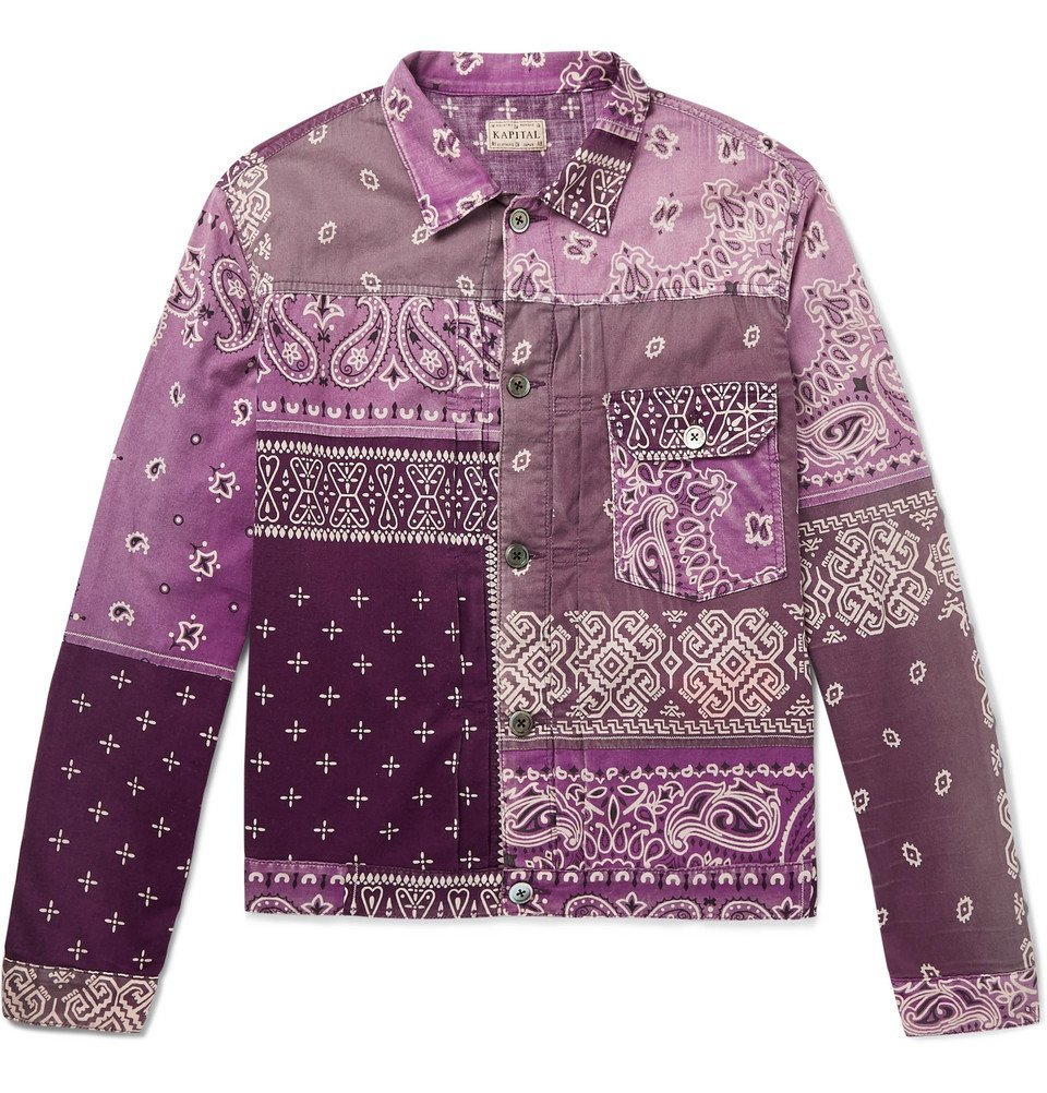 Photo: KAPITAL - Patchwork Bandana-Print Denim Jacket - Purple