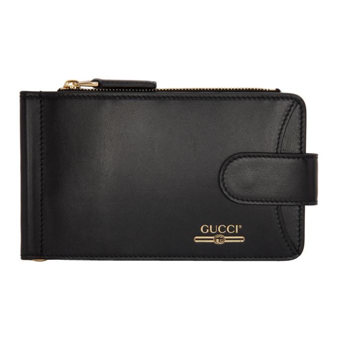 Photo: Gucci Black Money Clip Bifold Wallet