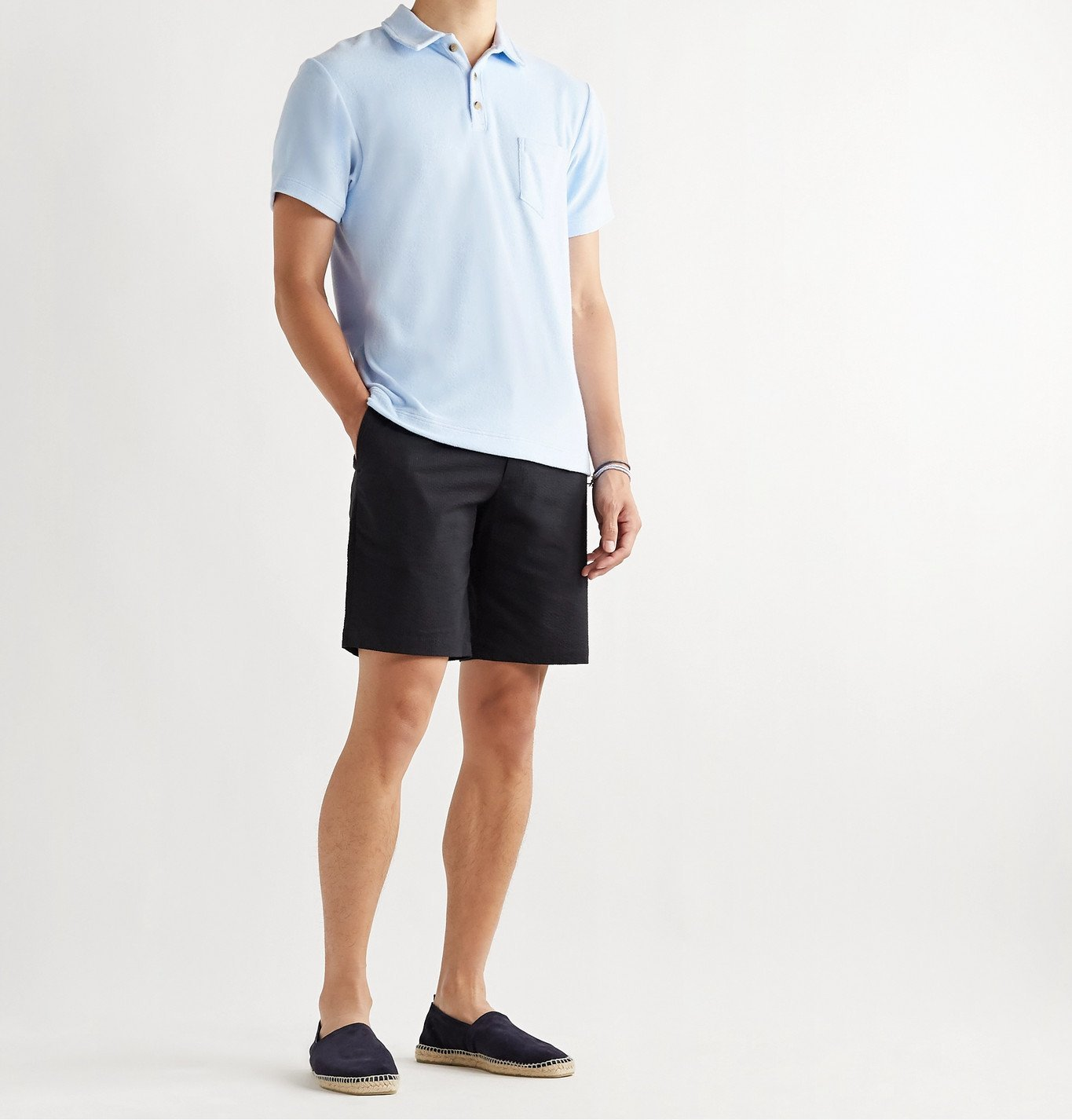 Howlin' - Mr Fantasy Cotton-Blend Terry Polo Shirt - Blue