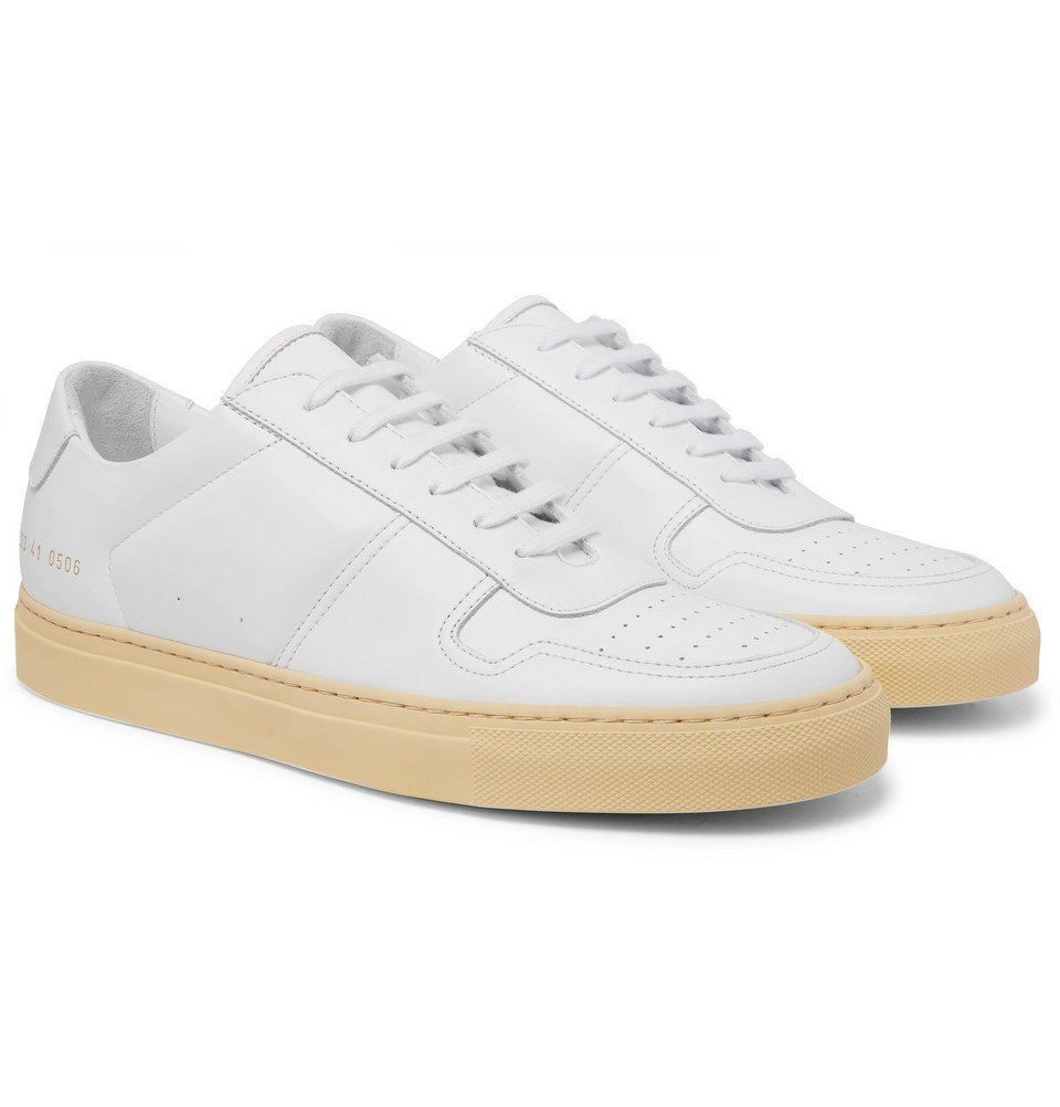 Photo: Common Projects - BBall Vintage Leather Sneakers - White