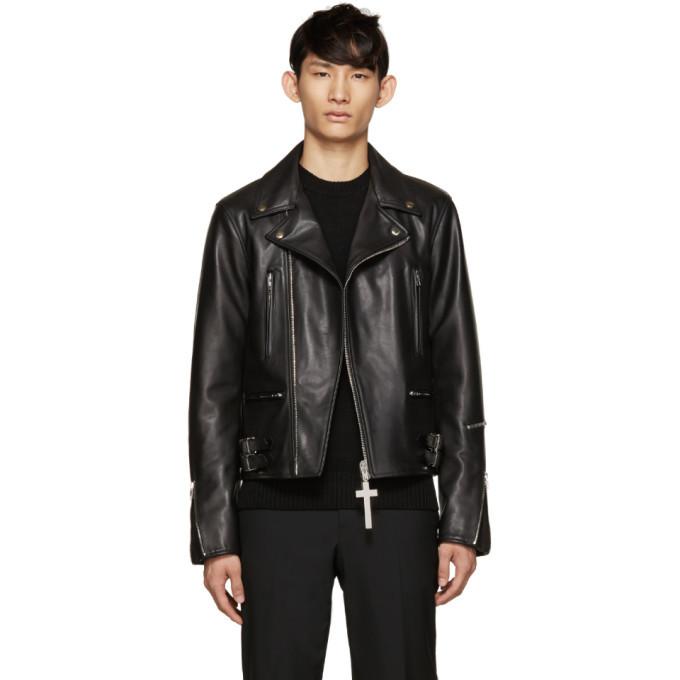 Photo: Givenchy Black Leather Biker Jacket