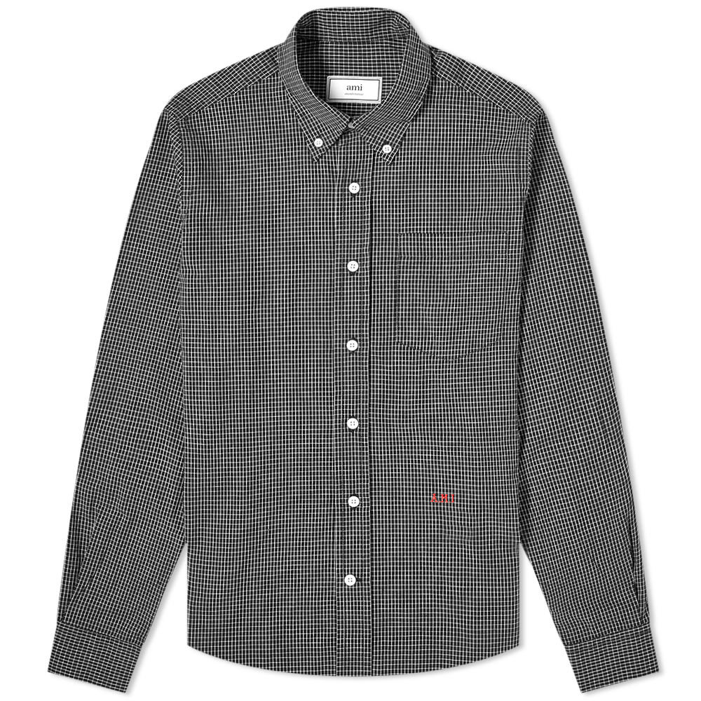 Photo: AMI Button Down Monogrammed Check Shirt
