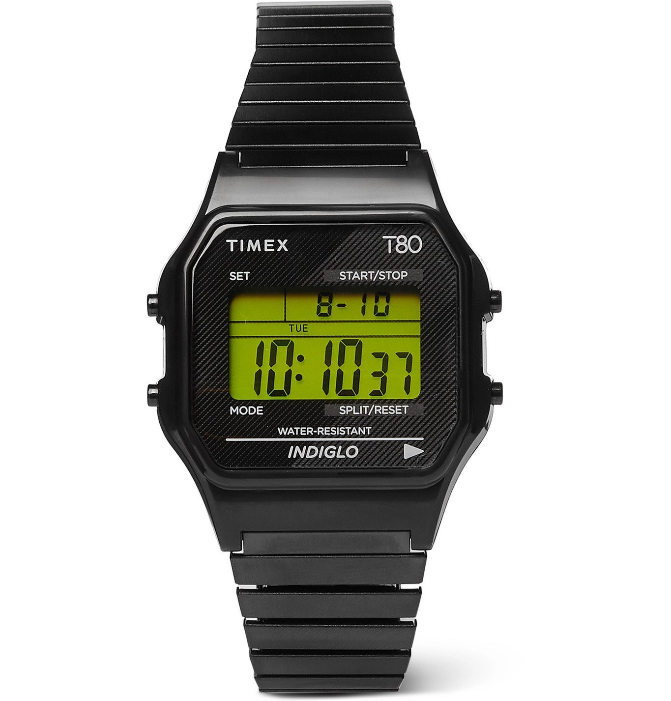 Photo: Timex - T80 34mm Stainless Steel Digital Watch - Black