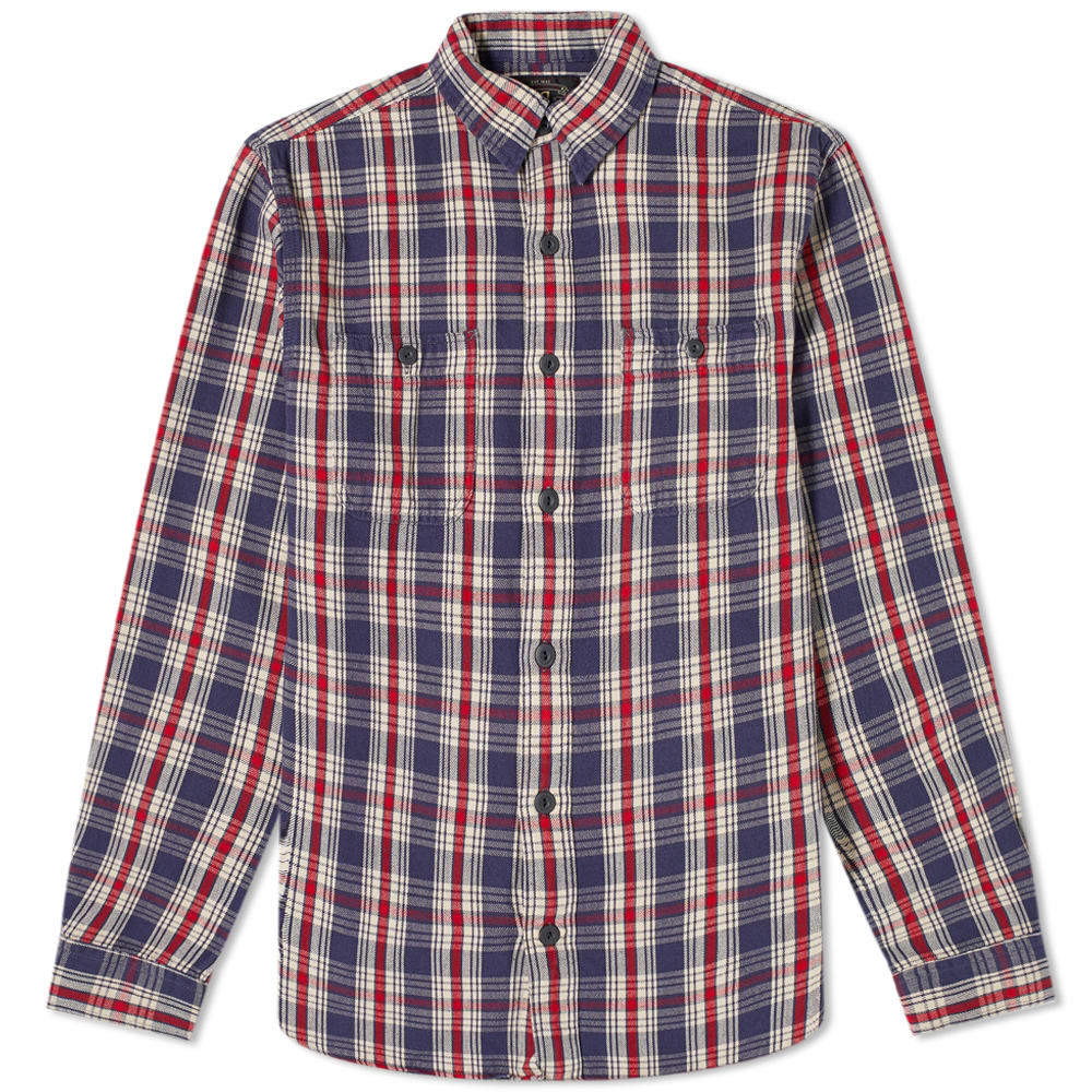 RRL Farell Checked Flannel Overshirt