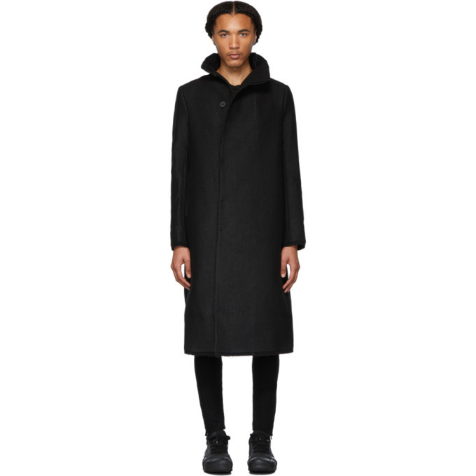 Photo: Boris Bidjan Saberi Black Wool Long Coat