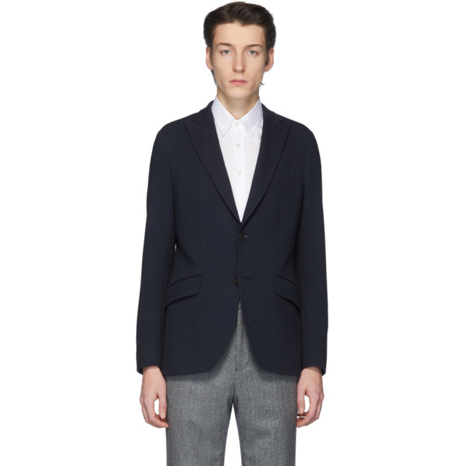 Photo: Etro Navy Seersucker Blazer