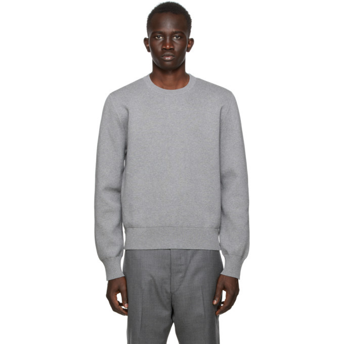 Photo: Thom Browne SSENSE Exclusive Grey Intarsia Sweater