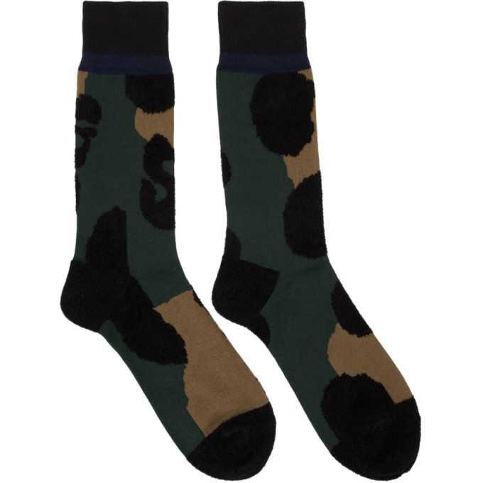 Photo: Sacai Green and Black Leopard Socks