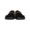 Martine Rose Black Suede Square Toe Loafers