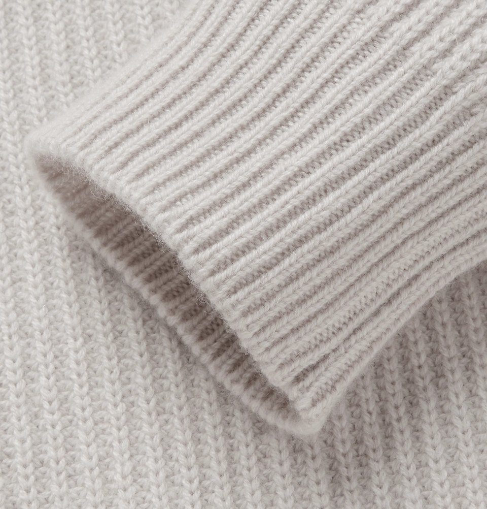 Bottega Veneta - Ribbed Cashmere Rollneck Sweater - Men - Cream