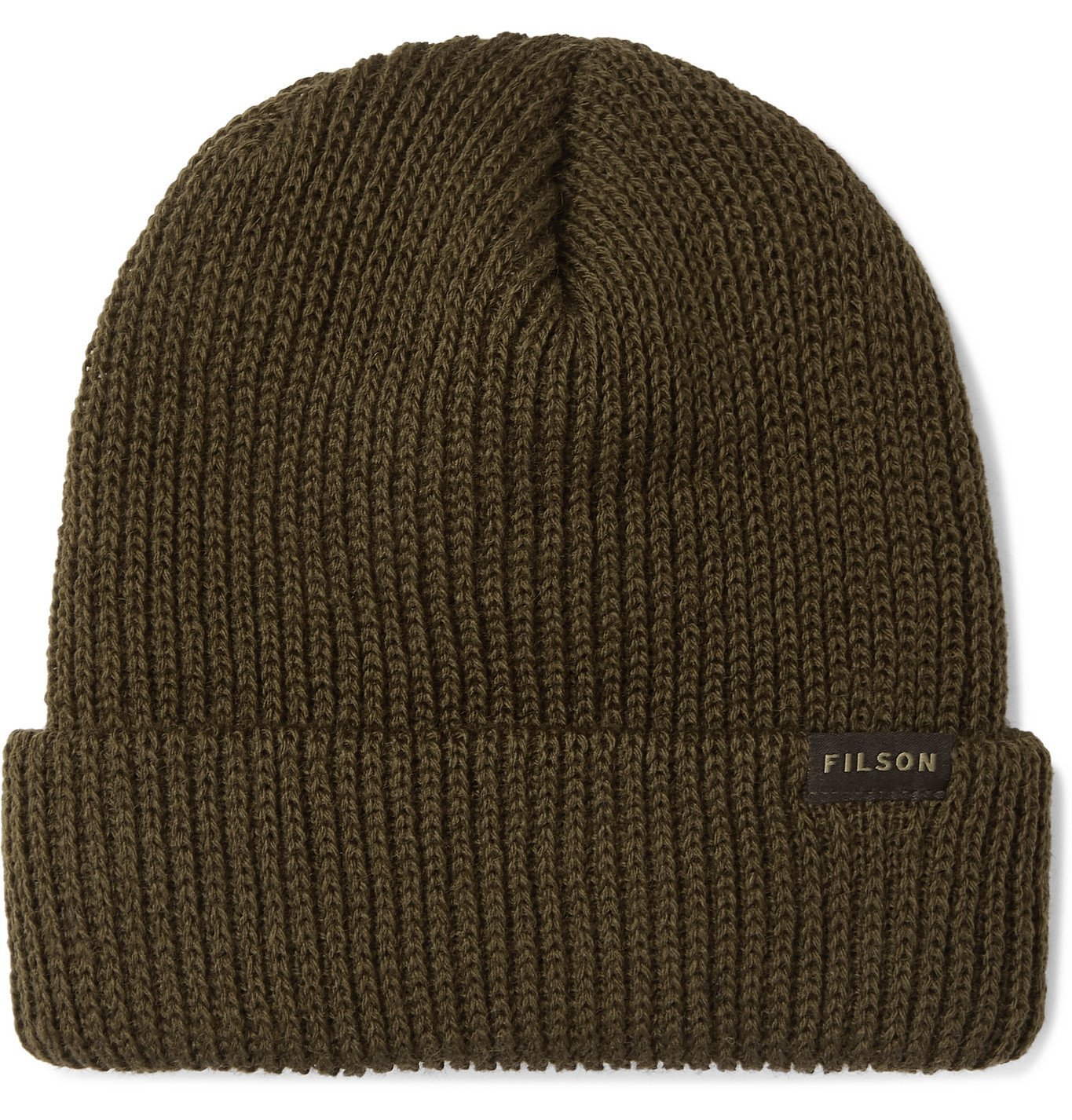 Photo: Filson - Watch Cap Ribbed Wool Beanie - Green