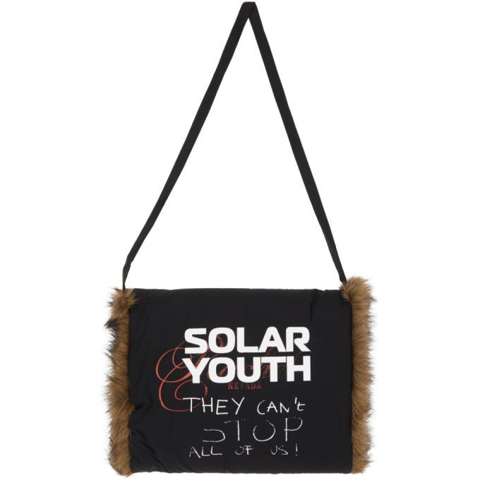 Raf Simons Black Printed Solar Youth Muff