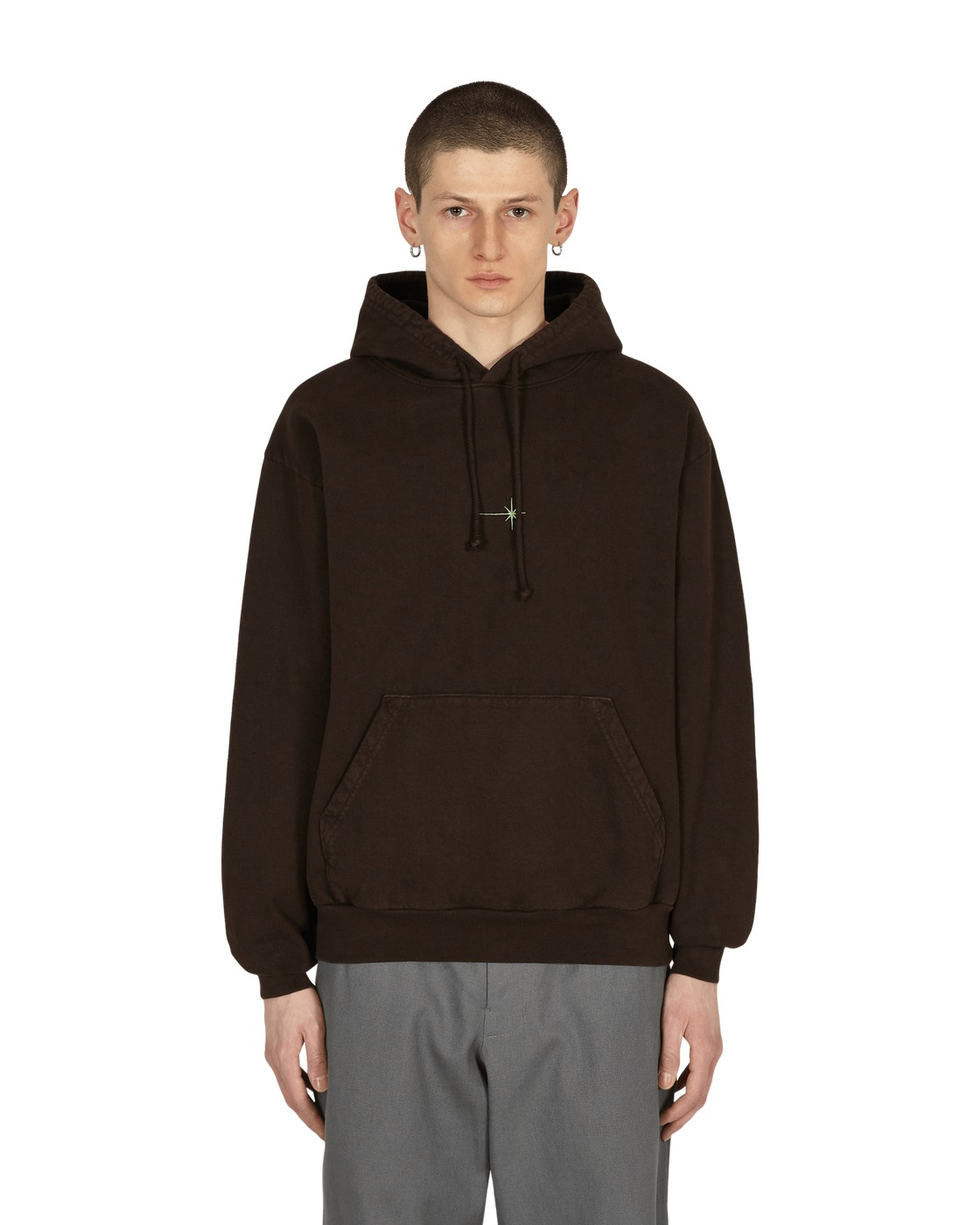 Eden Power Corp Shining Star Recycled Hooded Sweatshirt Brown
