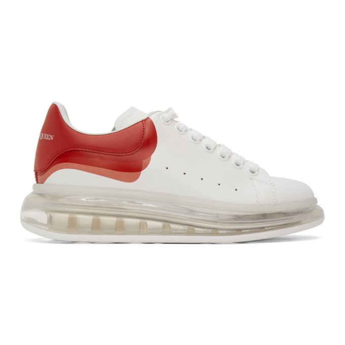 Photo: Alexander McQueen White and Red Oversized Sneakers