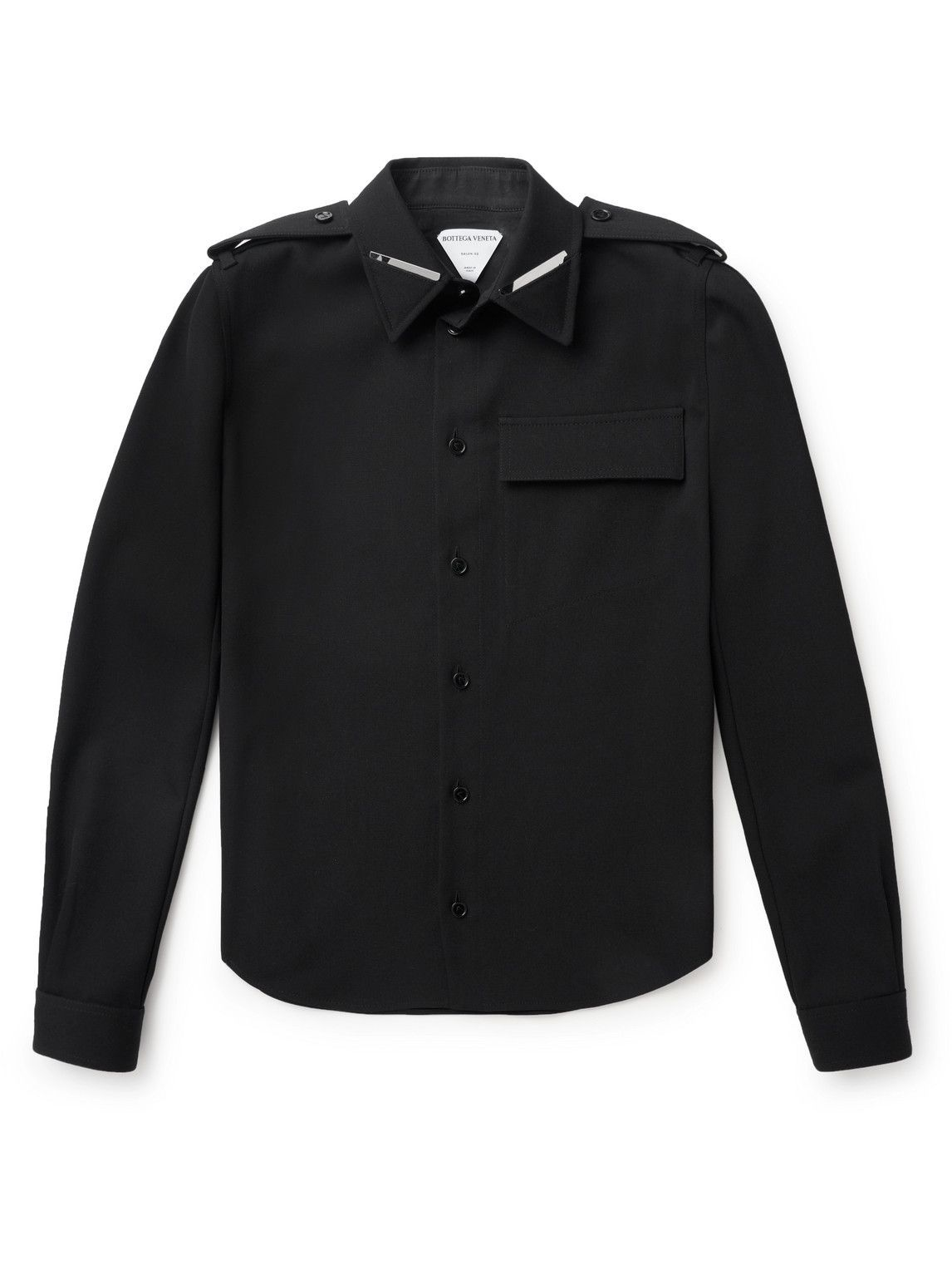 Photo: Bottega Veneta - Virgin Wool-Blend Shirt - Black